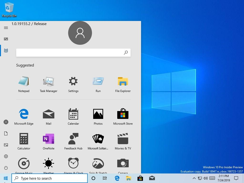 New Design Start Menu Widows 10